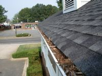The before pic of gutter cleaning.