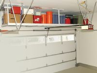 Garage storage shelving.