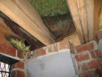 Structural repairs to joist, banding and  sub floor.